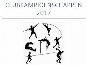 Atletiek: Zaterdag 30 september Clubkampioenschappen 2017